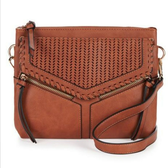 Violet Ray Handbags - VIOLET RAY Leanna Perforated Crossbody
